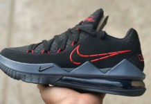 Nike LeBron 17 Low Black University Red CD5007-001 Release Date Info