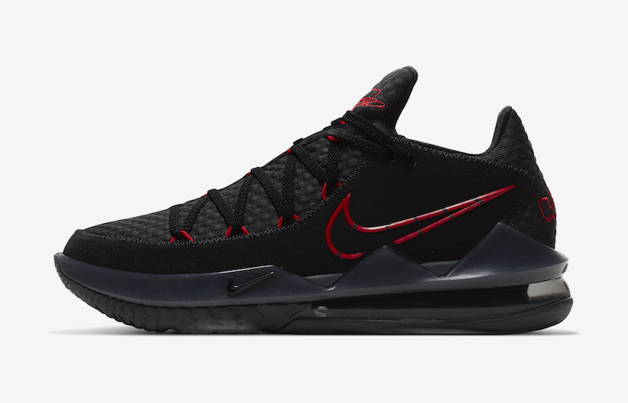 Nike LeBron 17 Low Bred Black University Red CD5007-001 Release Date