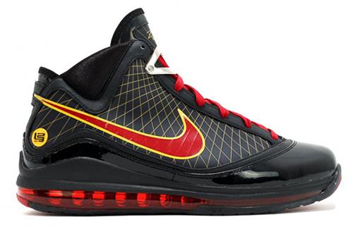 Nike LeBron 7 Fairfax Black Varsity Red Varsity Maize Release Date