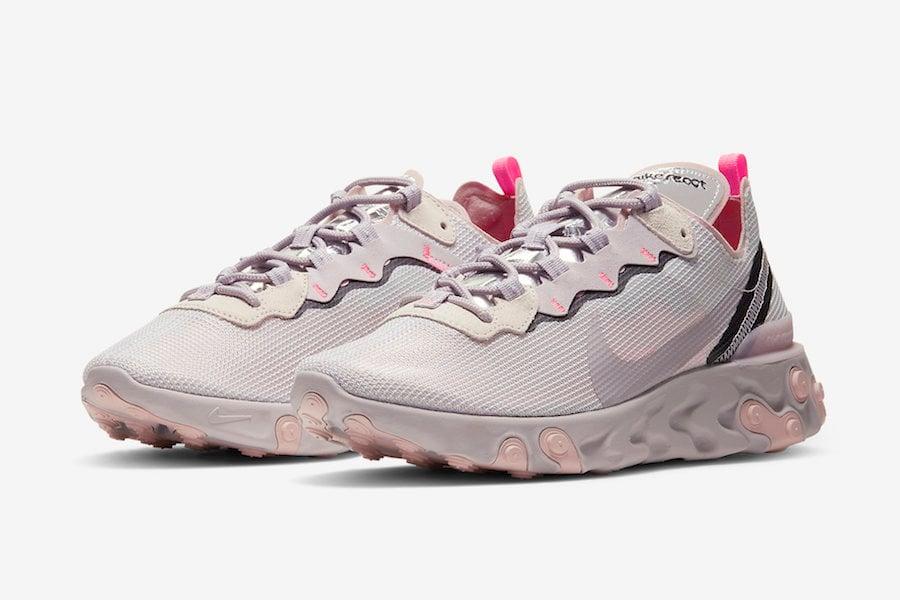 Nike React Element 55 Releasing in 'Platinum Violet'