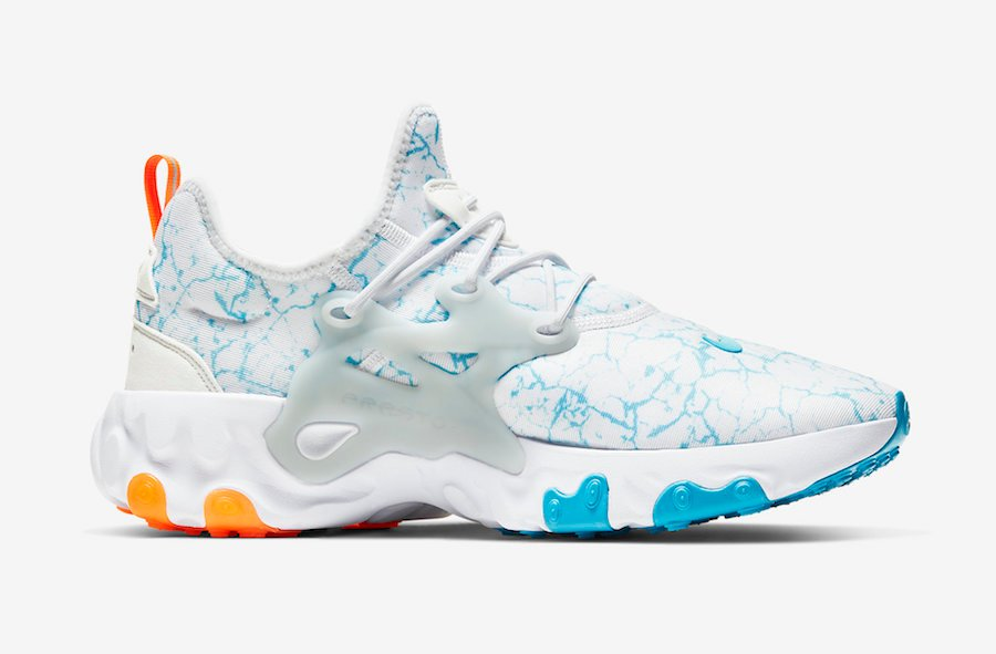 Nike React Presto White Blue Orange CN7664-100 Release Date Info