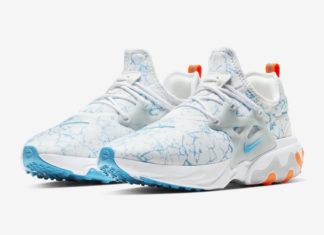 Nike React Presto White Blue Orange CN7664-100 Release Date Info