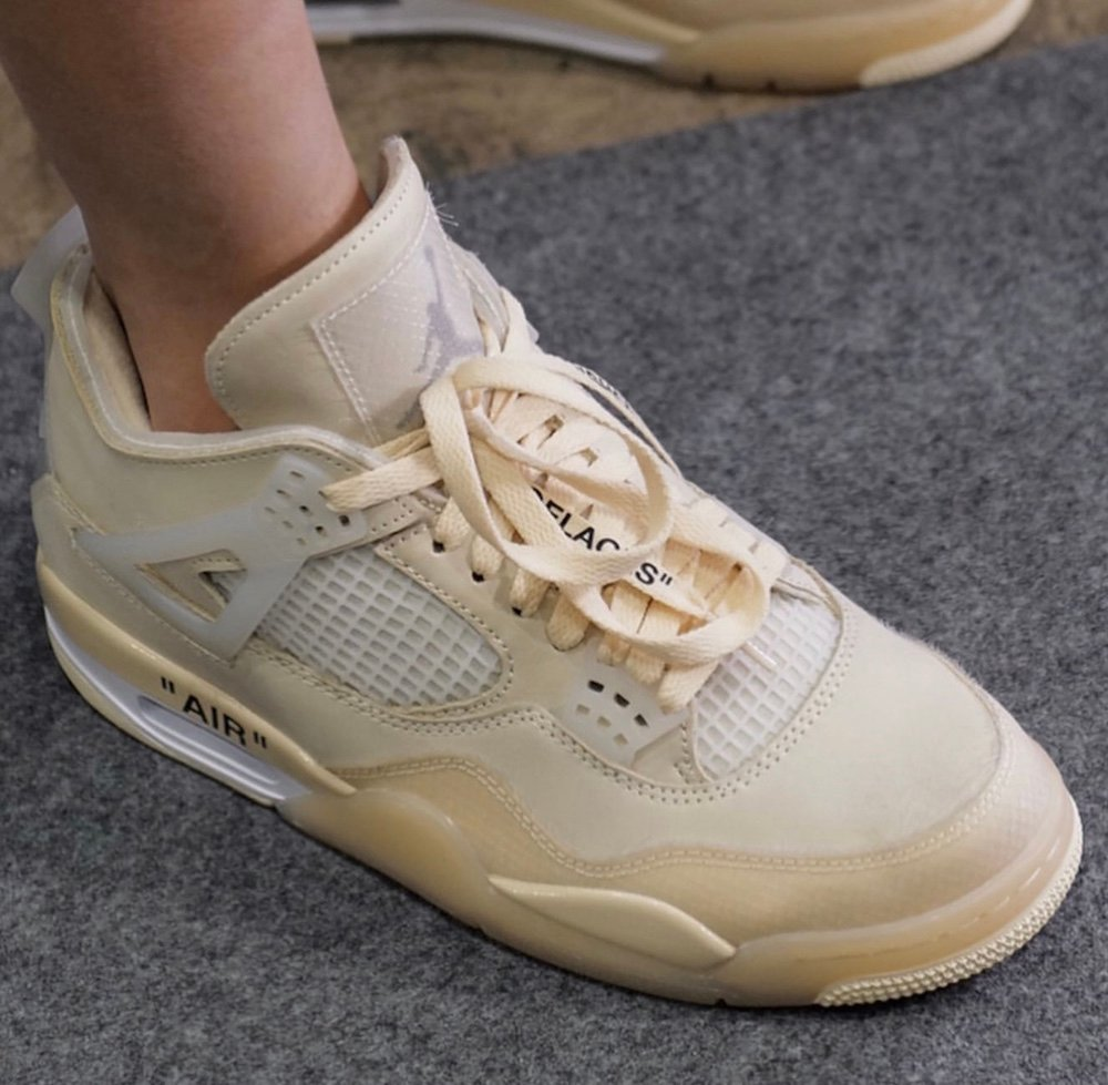 Off-White Air Jordan 4 Cream Sail 2020 Release Info