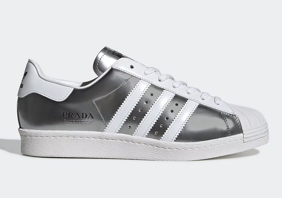 Prada adidas Superstar Metallic Silver
