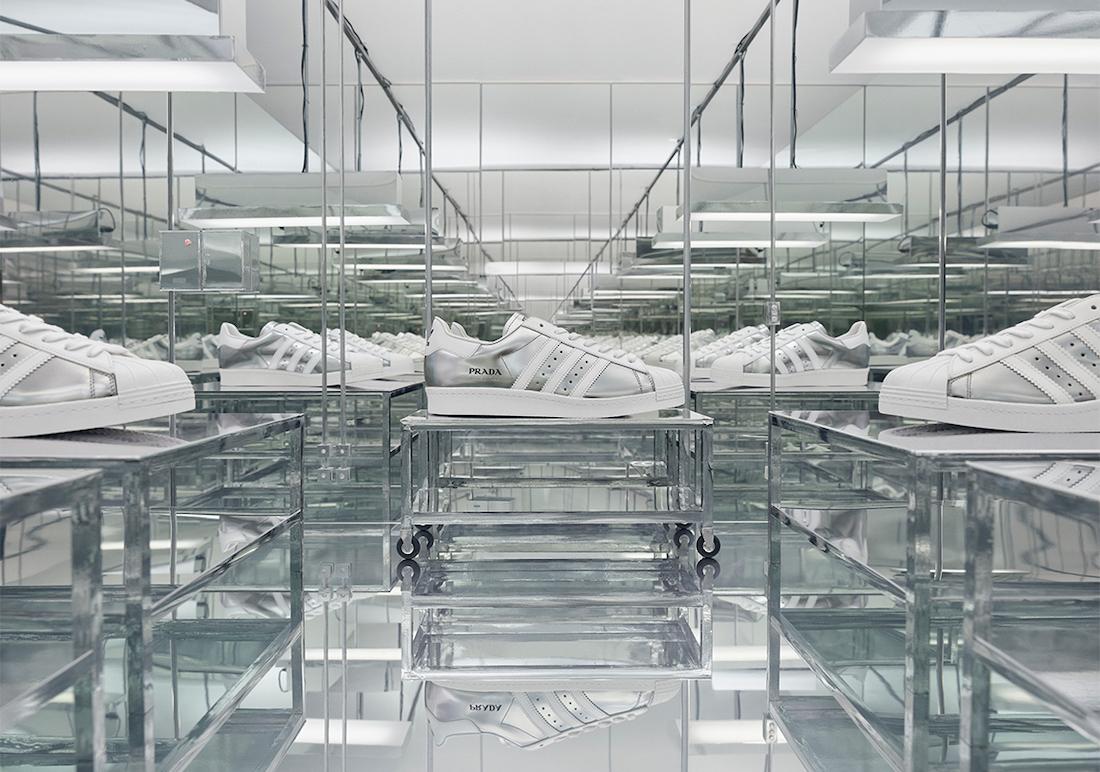 Prada adidas Superstar Silver White Release Date