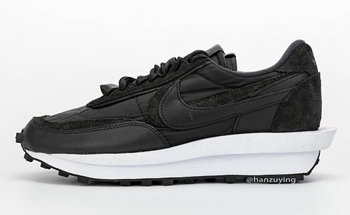 sacai Nike LDWaffle Black Nylon Release Date