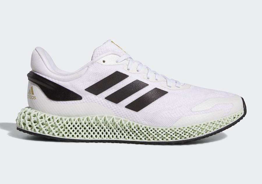adidas 4D Run 1.0 White Black Gold EG6264 Release Date Info