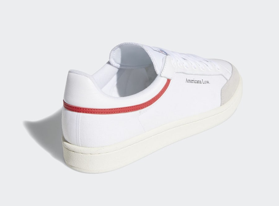adidas Americana Low White Red EF6385 Release Date Info