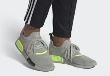 adidas NMD R1 Metal Grey Signal Green EH0044 Release Date Info