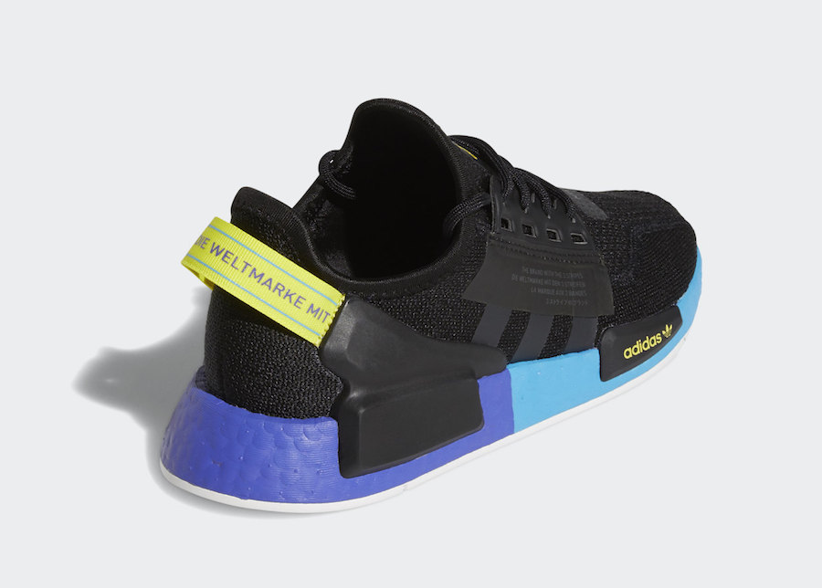 adidas NMD R1 V2 Black Carbon Shock Yellow FX4428 Release Date Info