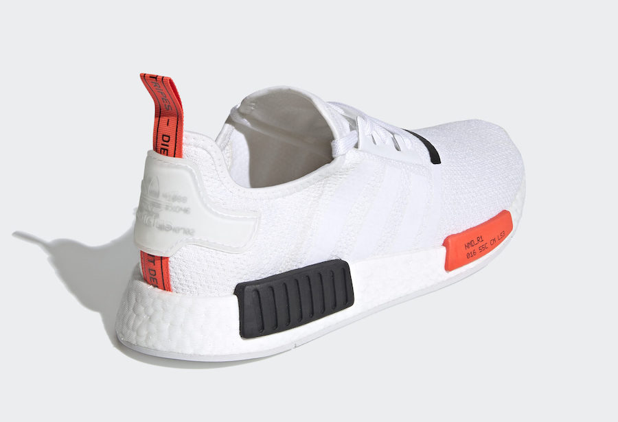 adidas NMD R1 White Solar Red EH0045 Release Date Info