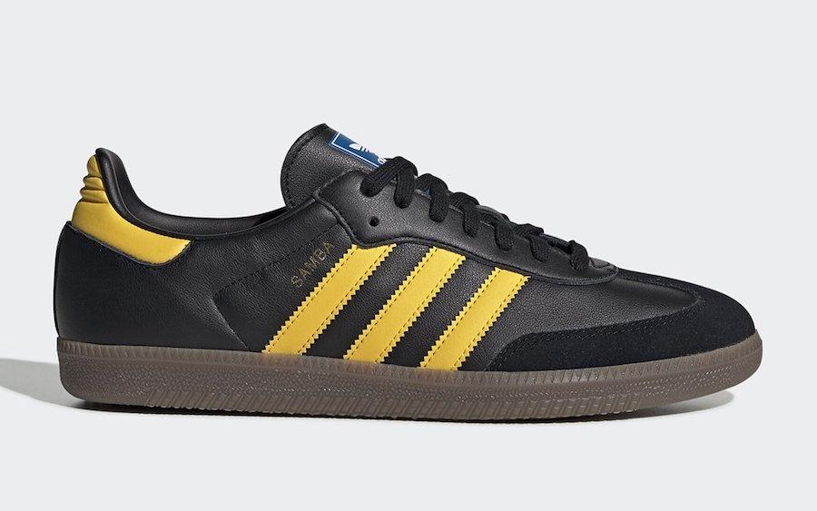 adidas Samba OG Black Yellow EG9326 Release Date Info