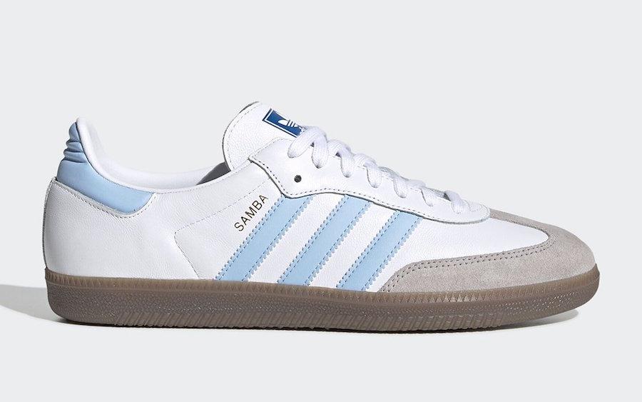 adidas Samba OG White Light Blue EG9327 Release Date Info