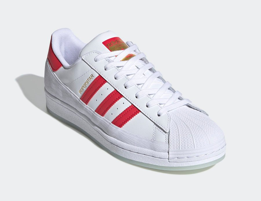adidas Superstar MG White Red FV3031 Release Date Info