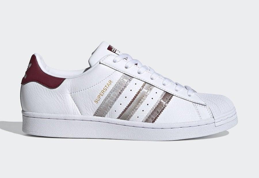 adidas Superstar White Burgundy FX4419 Release Date Info