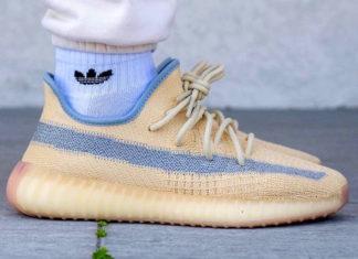 adidas Yeezy Boost 350 V2 Linen FY5158 On Feet