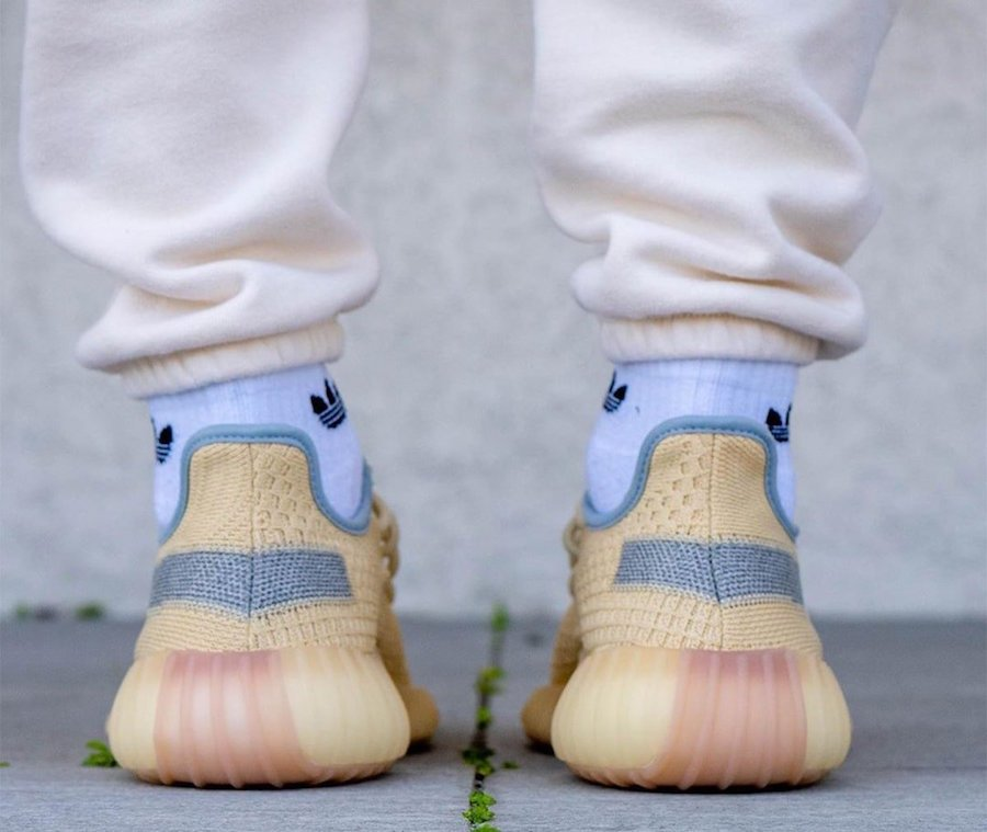 adidas Yeezy Boost 350 V2 Linen FY5158 On Feet