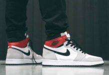 Air Jordan 1 High OG Light Smoke Grey 555088-126 On Feet