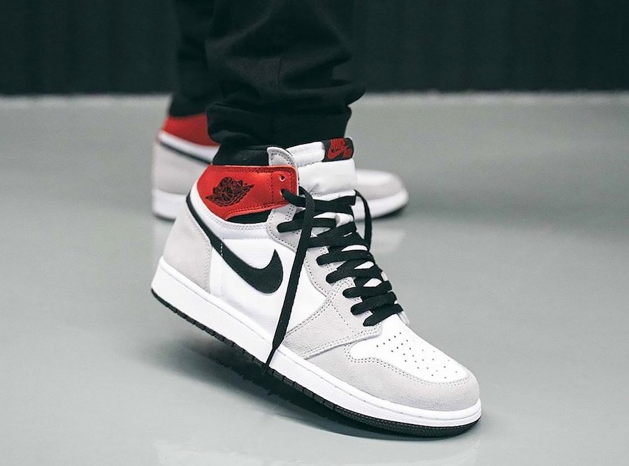 Air Jordan 1 High OG Light Smoke Grey 555088-126 On Feet