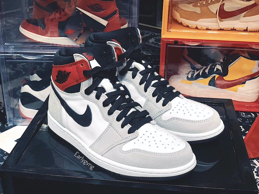 Air Jordan 1 High OG Light Smoke Grey 555088-126 Release Info