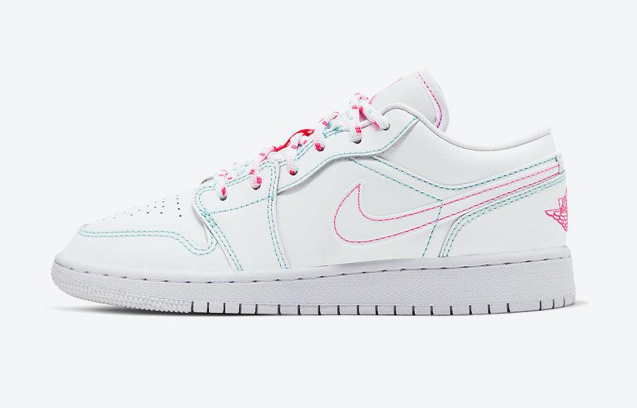 Air Jordan 1 Low GS Cotton Candy 554723-101 Release Date Info