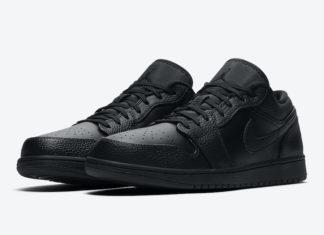 Air Jordan 1 Low Triple Black 553558-091 Release Date Info
