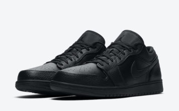 Air Jordan 1 Low Triple Black 553558-091 Release Date Info