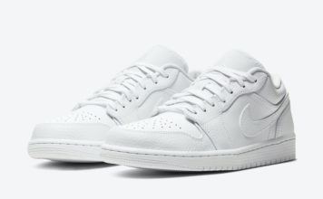 Air Jordan 1 Low Triple White 553558-130 Release Date Info