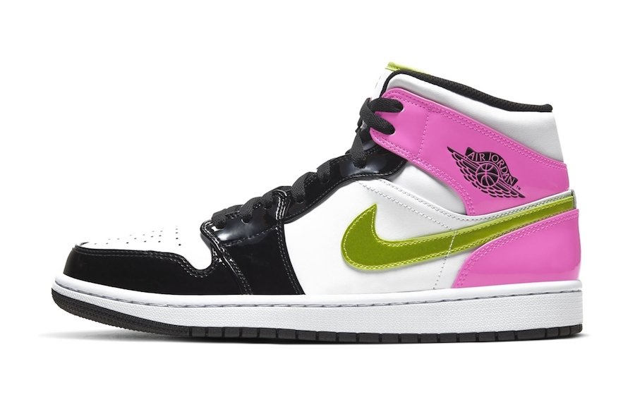 Air Jordan 1 Mid Black Pink Patent Leather Release Date Info
