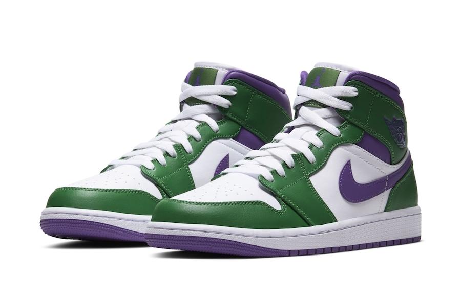 Air Jordan 1 Mid Hulk Green Purple Release Date Info