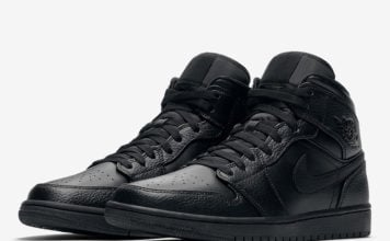 Air Jordan 1 Mid Triple Black 554724-091 Release Date Info