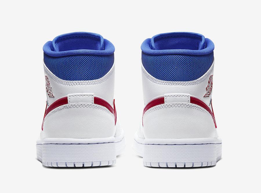 Air Jordan 1 Mid White Red Royal Blue BQ6472-164 Release Date Info