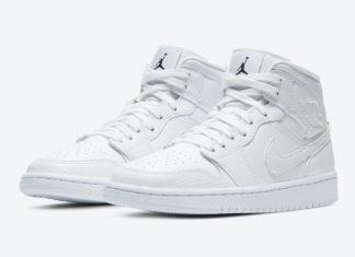 Air Jordan 1 Mid White Snakeskin BQ6472-110 Release Date Info