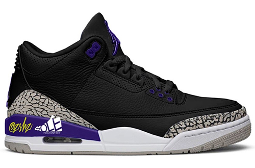 Air Jordan 3 Black Cement Grey White Court Purple 2020 Release Date