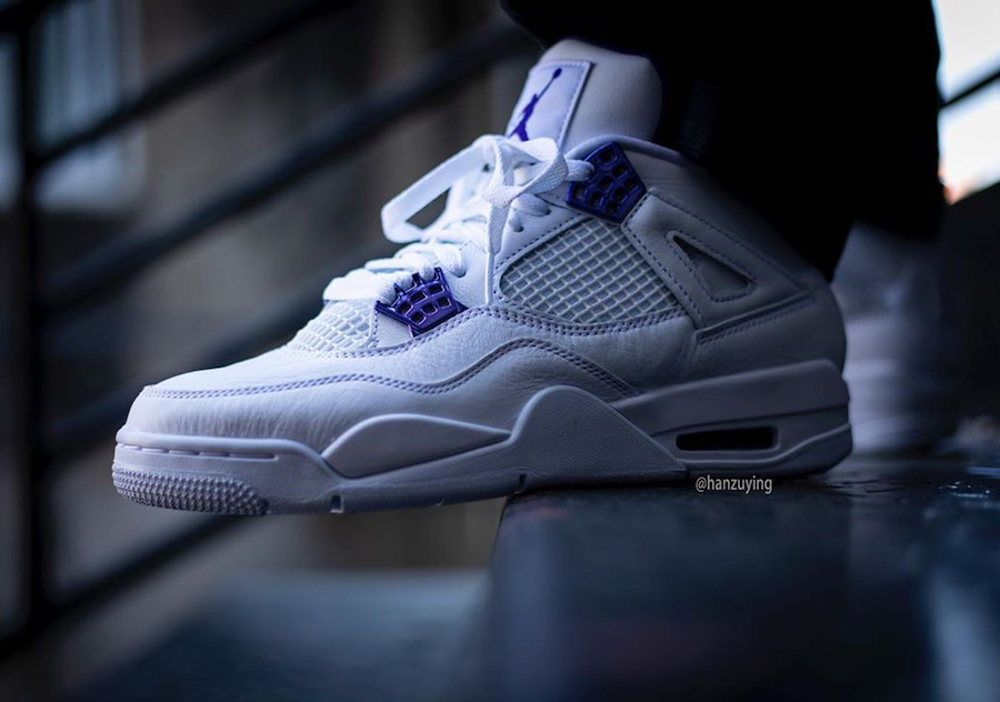 Air Jordan 4 Court Purple CT8527-115 2020 On Feet