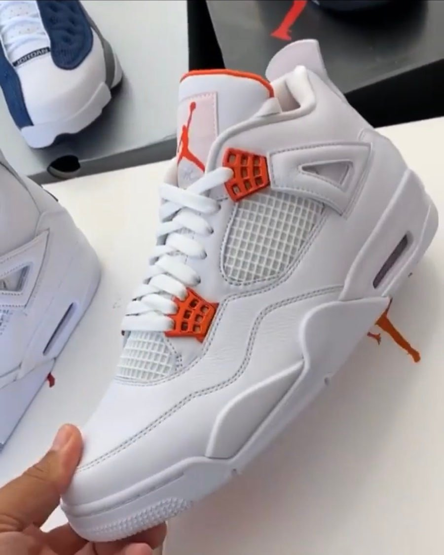 Air Jordan 4 Orange Metallic Release Date Info