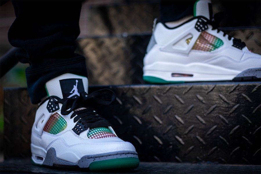 Air Jordan 4 Rasta WMNS AQ9129-100 On Feet
