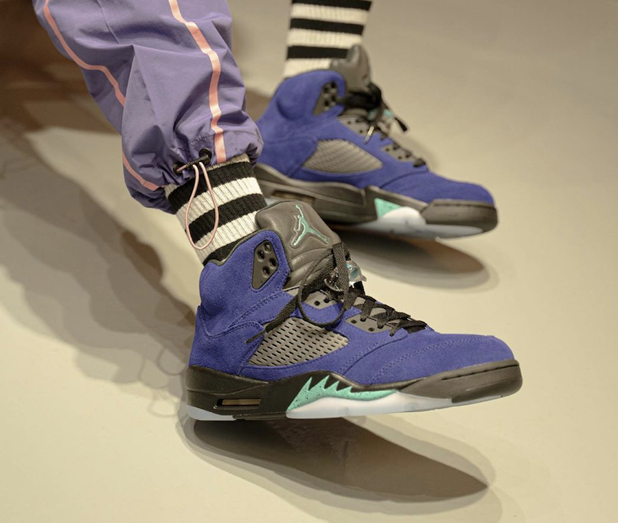 Air Jordan 5 Alternate Grape 136027-500 2020 On Feet