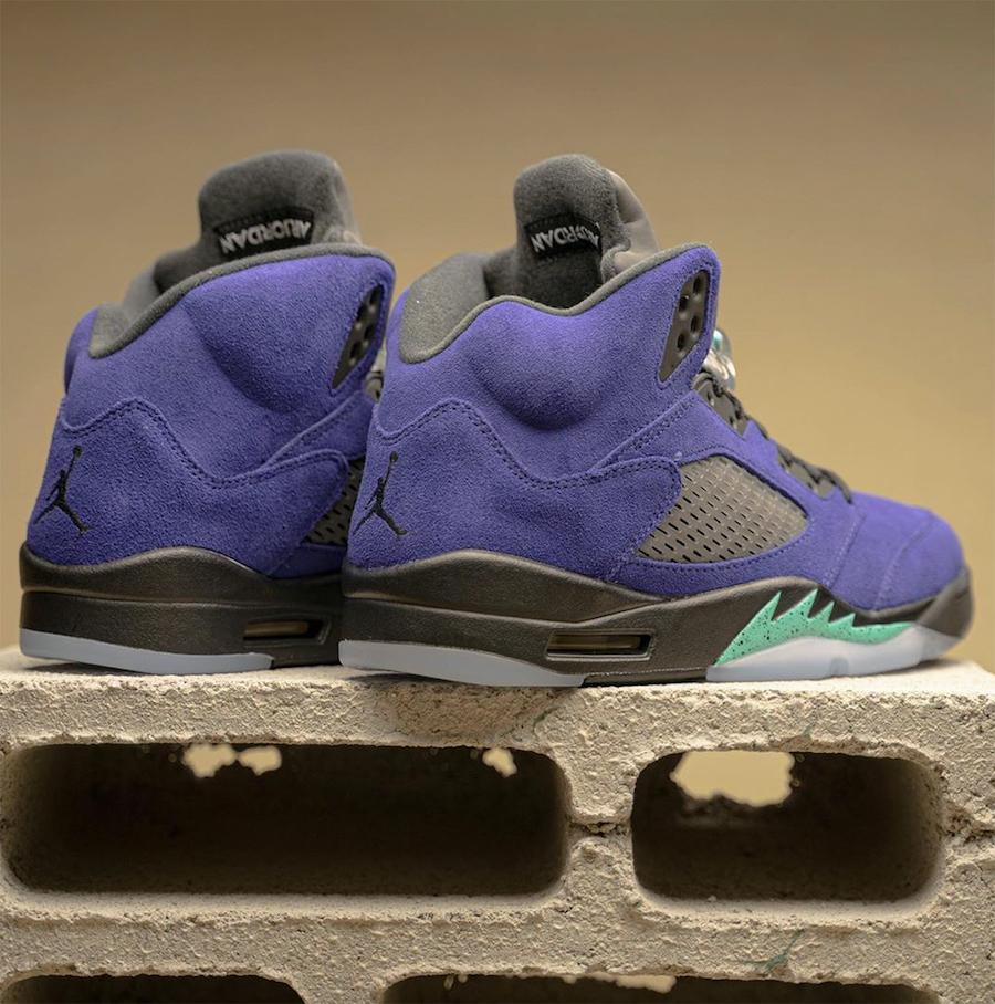 Air Jordan 5 Alternate Grape 136027-500 2020 Release Info