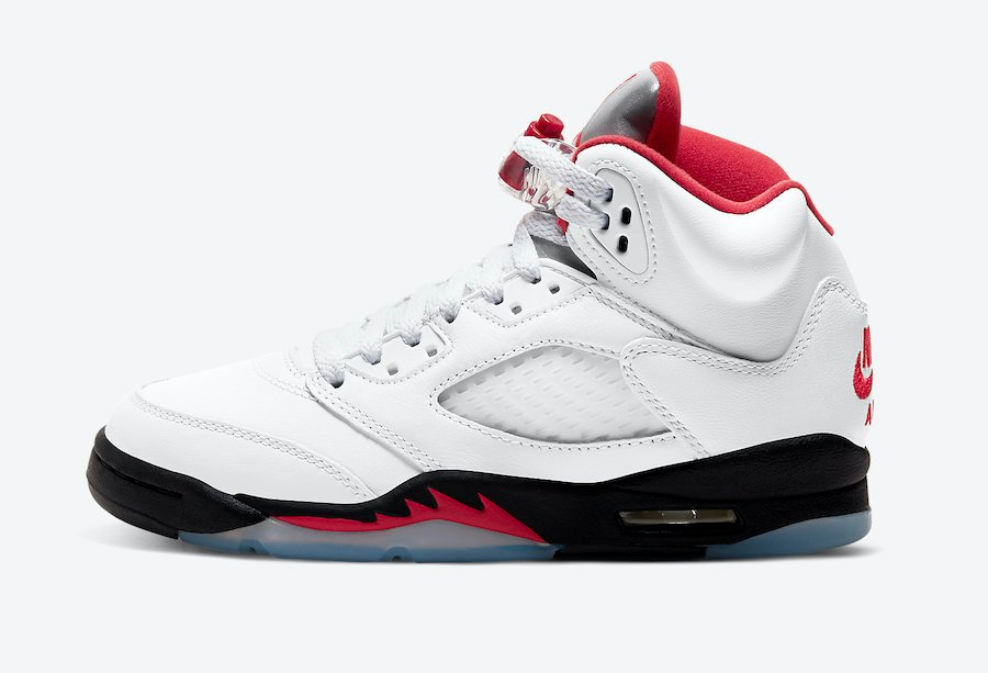 Air Jordan 5 Fire Red Grade School 440888-102
