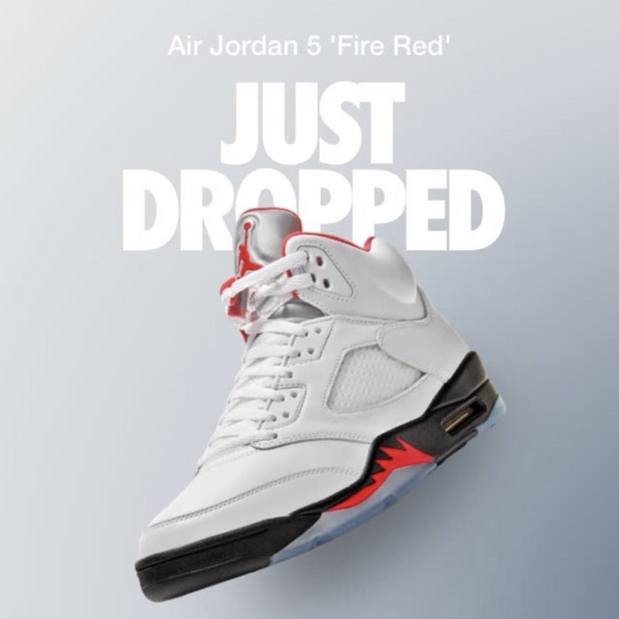 Air Jordan 5 Fire Red Shock Drop