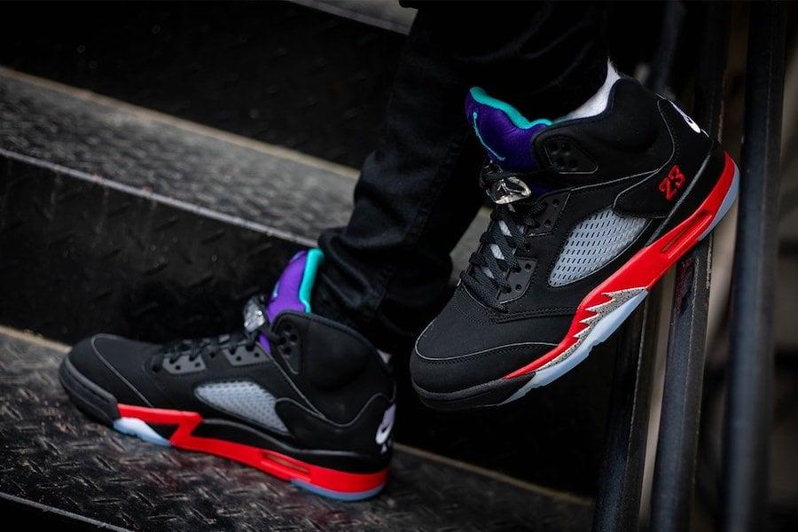 Air Jordan 5 Top 3 CZ1786-001 On Feet