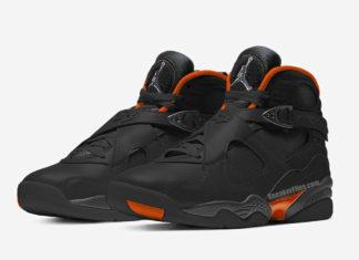 Air Jordan 8 WNTR Black Dark Grey Total Orange CT8532-050 Release Date Info