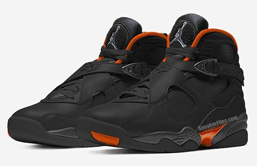 Air Jordan 8 WNTR Black Dark Grey Total Orange Release Date
