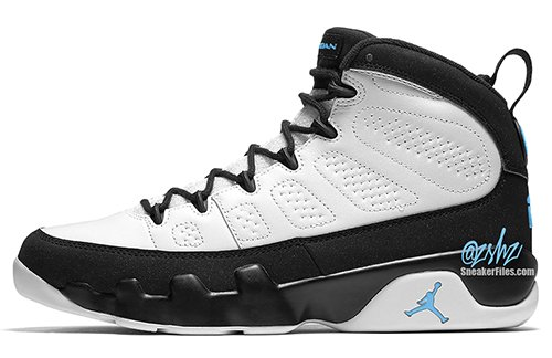 Air Jordan 9 White Black University Blue 2020 Release Date