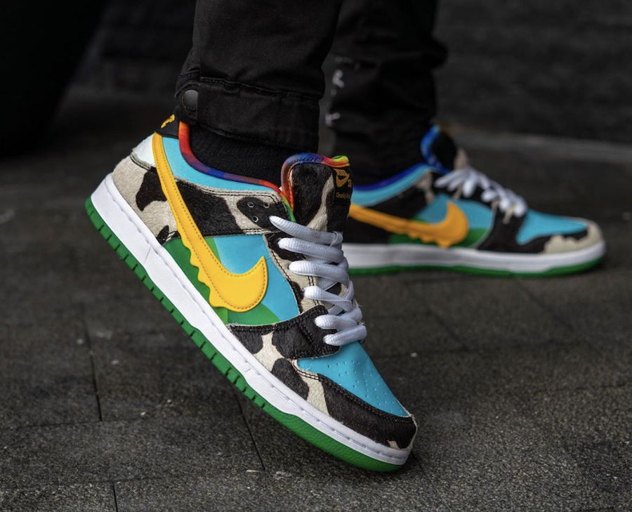 Ben and Jerrys Nike SB Dunk Low Chunky Dunky CU3244-100 On Feet