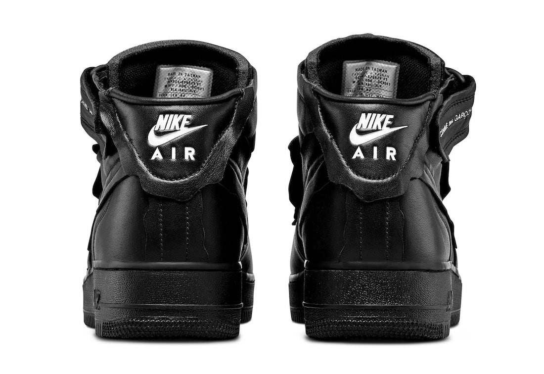 Comme des Garcons Nike Air Force 1 Mid Black Release Date