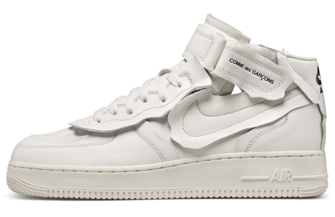 Comme des Garcons Nike Air Force 1 Mid White Release Date