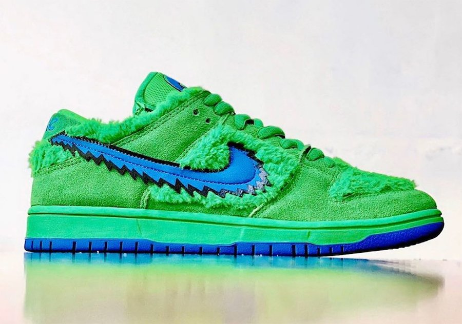 Grateful Dead Nike SB Dunk Low Green Release Date