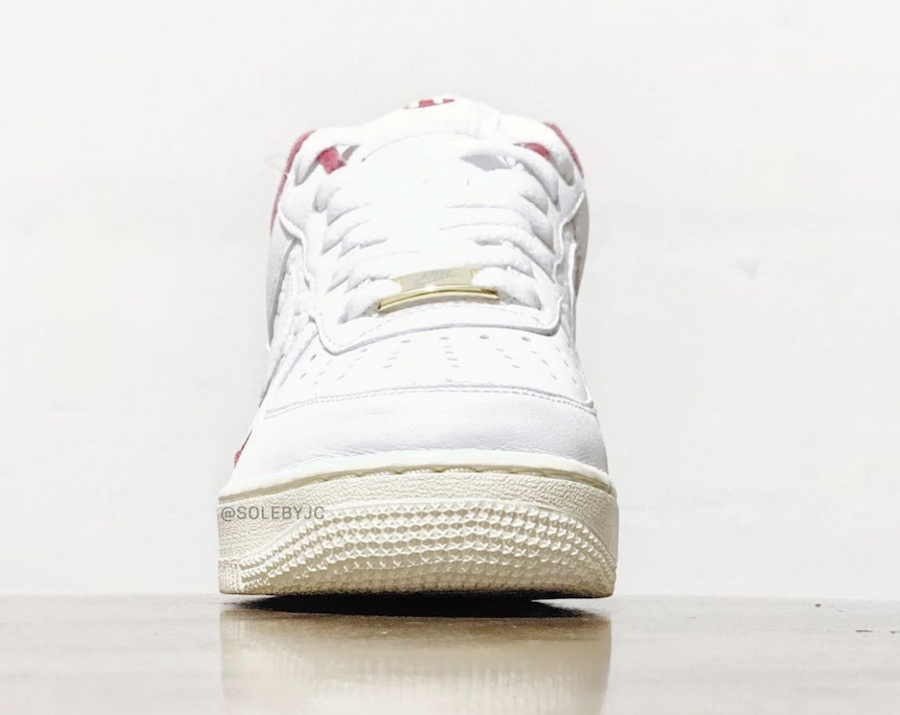 Kith Nike Air Force 1 White University Red Metallic Gold Release Date